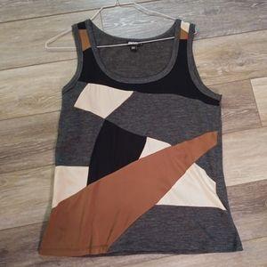 DKNY geometric design tank top